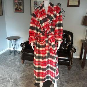 Vtg Victoria's Secret Country Robe Wool Rabbit Fur